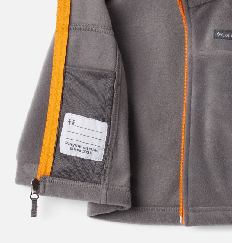 Steens Mt™ II Fleece | 024 | 18/24 Boys' Infant Steens Mountain™ II Fleece Jacket, City Grey, Flame Orange, a1