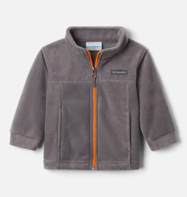 Steens Mt™ II Fleece | 024 | 18/24 Boys' Infant Steens Mountain™ II Fleece Jacket, City Grey, Flame Orange, front