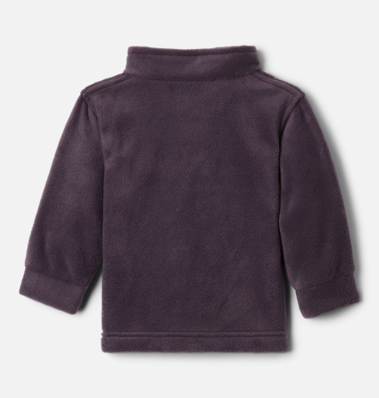 Steens Mt™ II Fleece | 511 | 3/6 Boys' Infant Steens Mountain™ II Fleece Jacket, Dark Purple, Columbia Grey, back