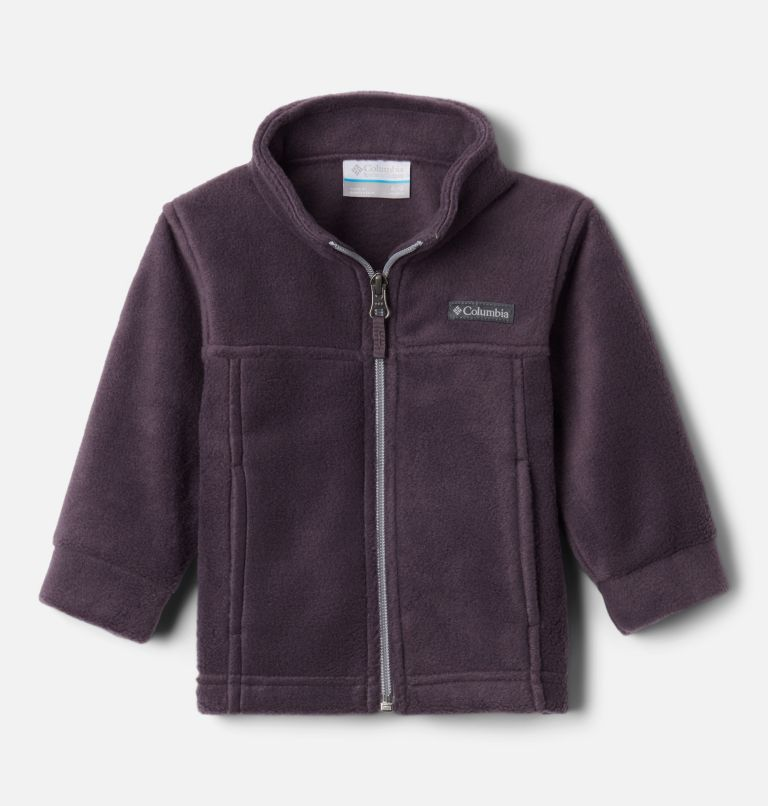 Steens Mt™ II Fleece | 511 | 3/6 Boys' Infant Steens Mountain™ II Fleece Jacket, Dark Purple, Columbia Grey, front