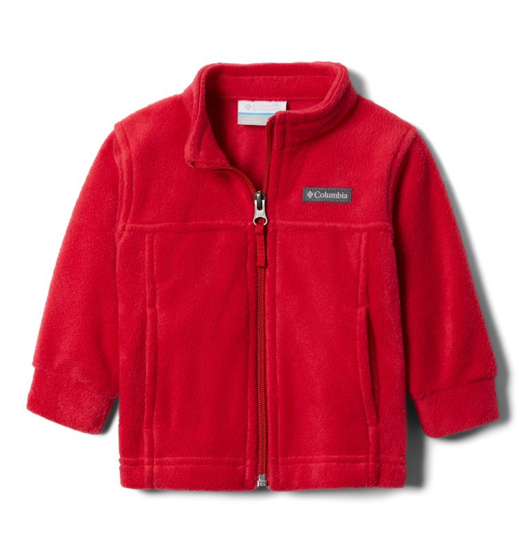 Steens Mt™ II Fleece | 614 | 6/12 Boys' Infant Steens Mountain™ II Fleece Jacket, Mountain Red, 3/4 front