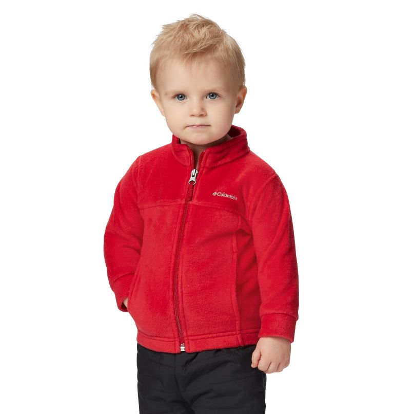 Steens Mt™ II Fleece | 614 | 6/12 Boys' Infant Steens Mountain™ II Fleece Jacket, Mountain Red, front