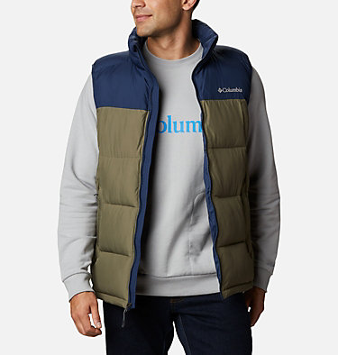 Chaleco Pike Lake™ para hombre Pike Lake™ Vest | 043 | S, Stone Green, Collegiate Navy, front