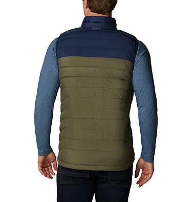 Veste sans Manches Powder Lite Homme Powder Lite™ Vest   397   S, Stone Green, Collegiate Navy, back