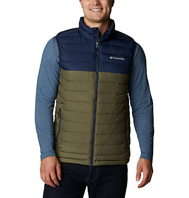 Veste sans Manches Powder Lite Homme Powder Lite™ Vest   397   S, Stone Green, Collegiate Navy, front