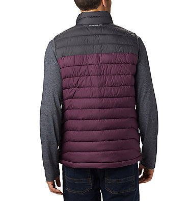 Men's Powder Lite™ Vest Powder Lite™ Vest | 820 | S, Black Cherry, Shark, back