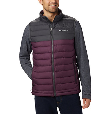 Men's Powder Lite™ Vest Powder Lite™ Vest | 820 | S, Black Cherry, Shark, front