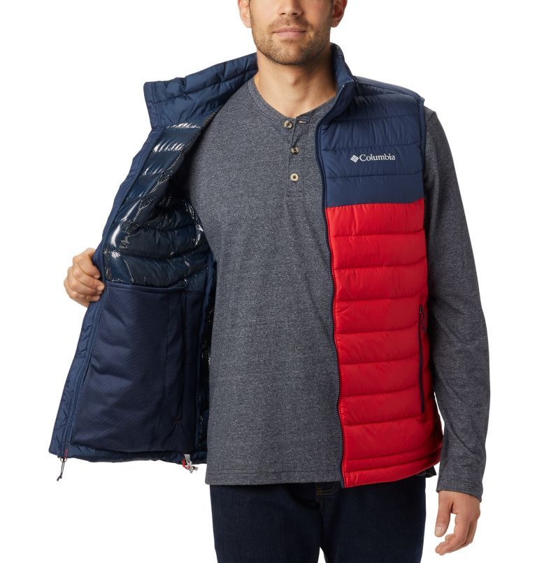Powder Lite™ Vest | 613 | XL Chaleco Powder Lite para hombre, Mountain Red, Collegiate Navy, a1