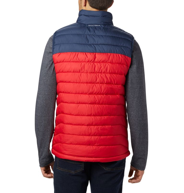 Powder Lite™ Vest | 613 | XL Chaleco Powder Lite para hombre, Mountain Red, Collegiate Navy, back