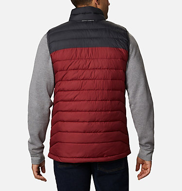 Veste sans Manches Powder Lite Homme Powder Lite™ Vest | 664 | S, Red Jasper, Shark, back