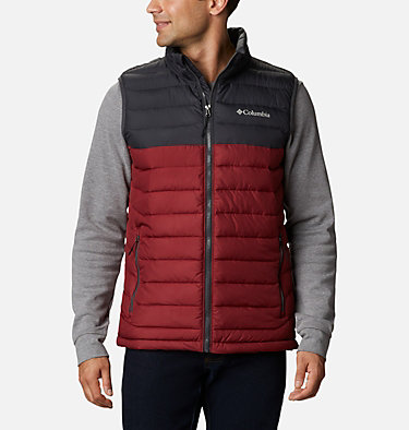 Veste sans Manches Powder Lite Homme Powder Lite™ Vest | 664 | S, Red Jasper, Shark, front