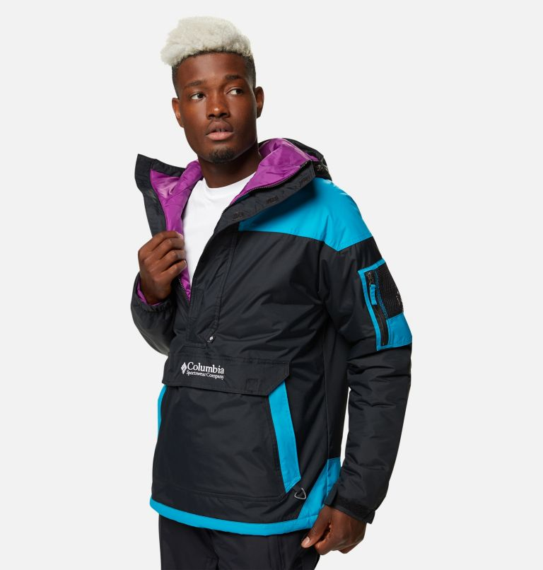 Challenger™ Pullover | 018 | XXL Men's Challenger™ Insulated Anorak, Black, Fjord Blue, a1