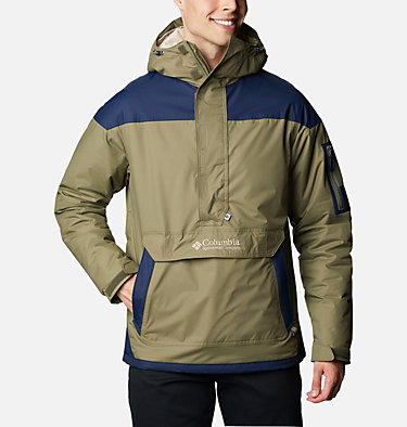 Men's Challenger Pullover Jacket Challenger™ Pullover | 018 | XS, Stone Green, Collegiate Navy, front
