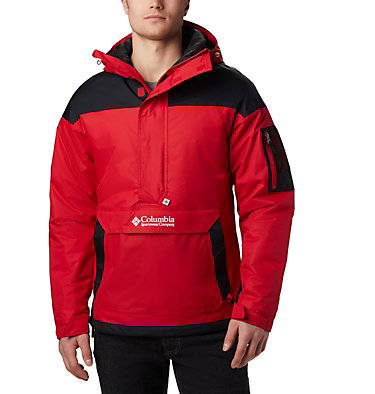 Men's Challenger Pullover Jacket Challenger™ Pullover | 018 | XS, Mountain Red, Black, front