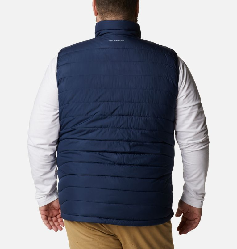 Powder Lite™ Vest | 465 | 5X Men's Powder Lite™ Vest - Plus Size, Collegiate Navy, back