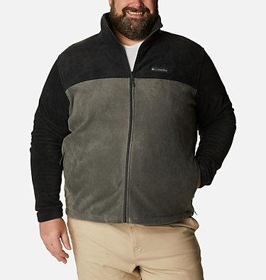 Men's Steens Mountain™ 2.0 Full Zip Fleece Jacket — Big Steens Mountain™ Full Zip 2.0 | 024 | 1X, Black, Grill, front
