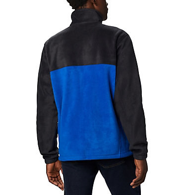 Men's Steens Mountain™ 2.0 Full Zip Fleece Jacket — Big Steens Mountain™ Full Zip 2.0 | 024 | 1X, Black, Azul, Mountain Red, back
