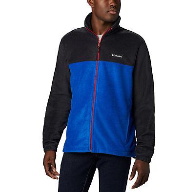 Men's Steens Mountain™ 2.0 Full Zip Fleece Jacket — Big Steens Mountain™ Full Zip 2.0 | 024 | 1X, Black, Azul, Mountain Red, front