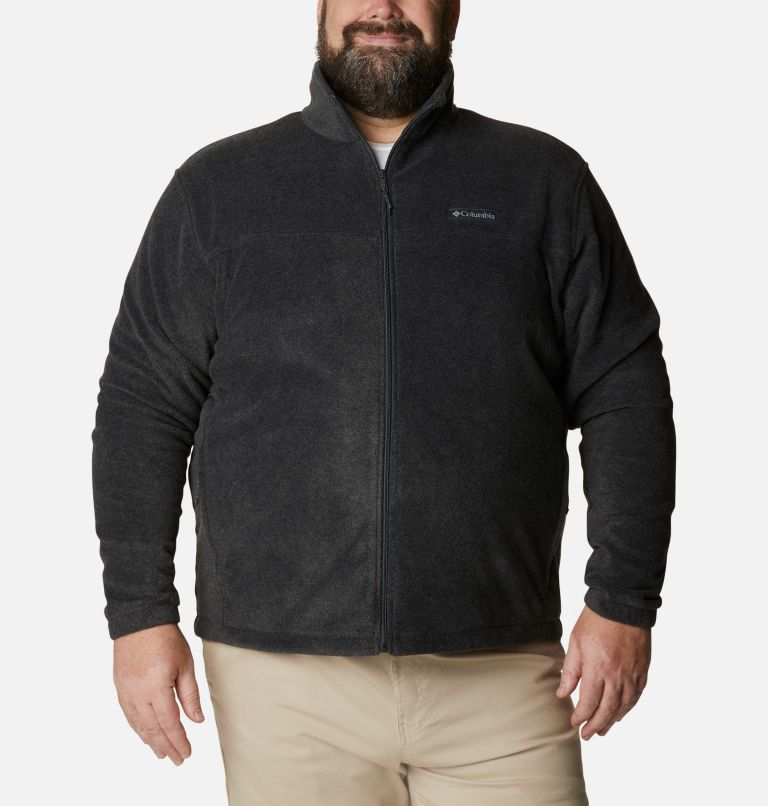 Steens Mountain™ Full Zip 2.0 | 048 | 2X Men's Steens Mountain™ 2.0 Full Zip Fleece Jacket — Big, Charcoal Heather, front