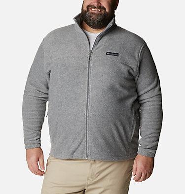 Men's Steens Mountain™ 2.0 Full Zip Fleece Jacket — Big Steens Mountain™ Full Zip 2.0 | 024 | 1X, Light Grey Heather, front