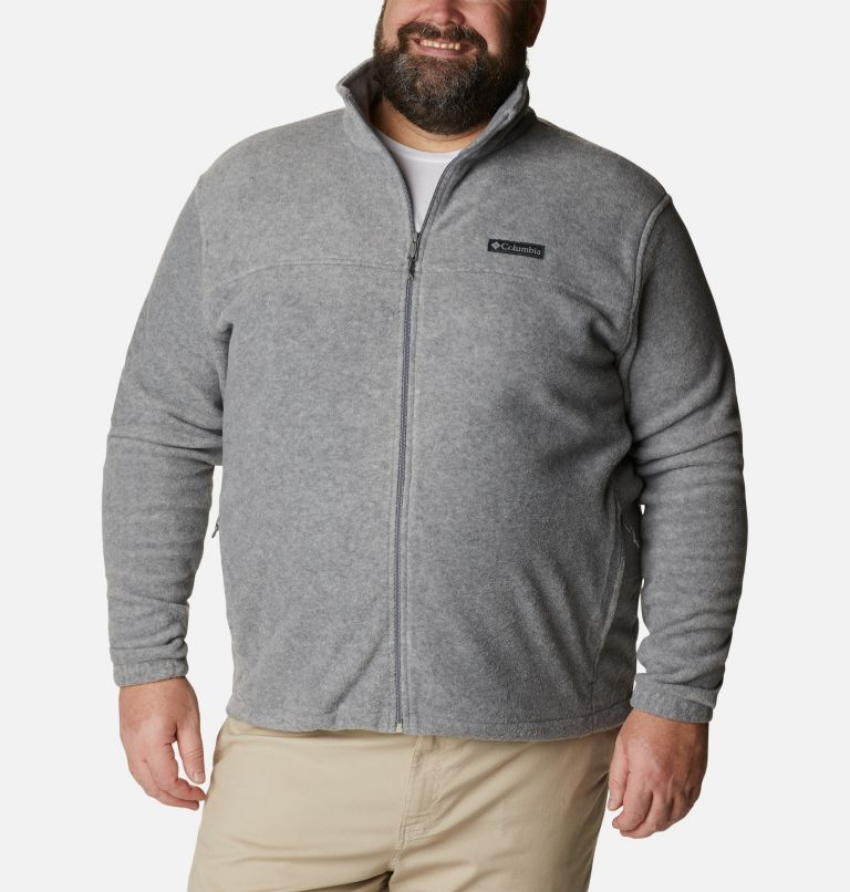 Steens Mountain™ Full Zip 2.0 | 060 | 5X Men's Steens Mountain™ 2.0 Full Zip Fleece Jacket — Big, Light Grey Heather, front