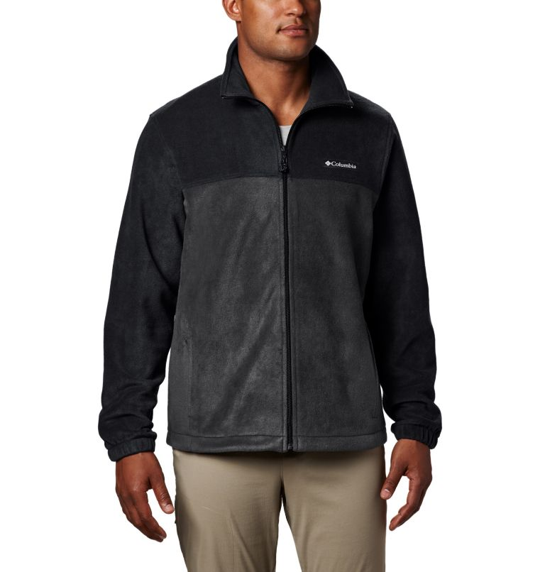 Steens Mountain™ Full Zip 2.0 | 011 | 3XT Men's Steens Mountain™ Full Zip Fleece 2.0 - Tall, Black, Grill, front