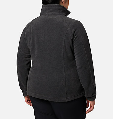 Women's Benton Springs™ Full Zip - Plus Size Benton Springs™ Full Zip | 619 | 1X, Charcoal Heather, back