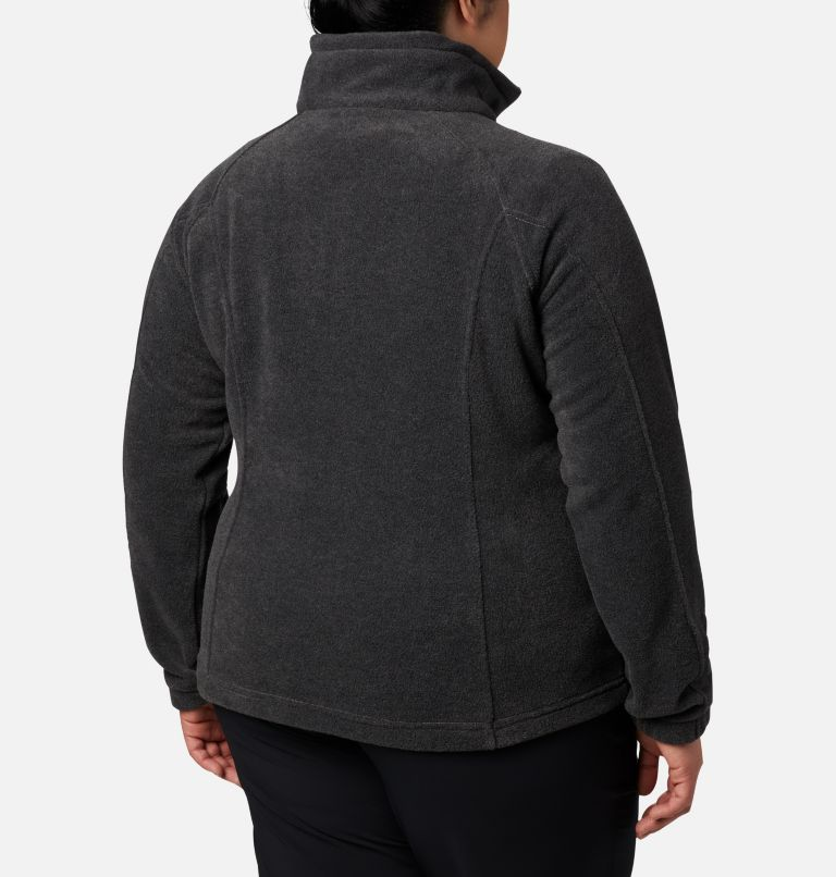 Benton Springs™ Full Zip | 030 | 3X Women's Benton Springs™ Full Zip - Plus Size, Charcoal Heather, back