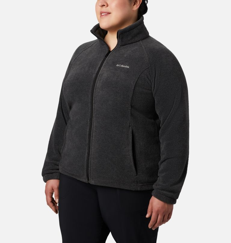 Benton Springs™ Full Zip | 030 | 3X Women's Benton Springs™ Full Zip - Plus Size, Charcoal Heather, front