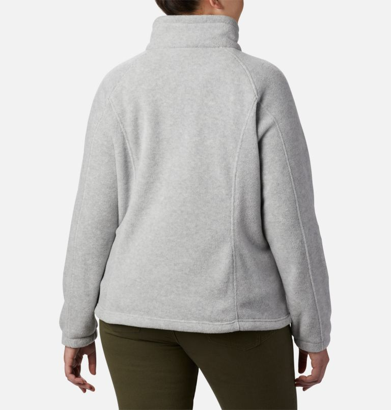 Benton Springs™ Full Zip | 034 | 1X Women's Benton Springs™ Full Zip - Plus Size, Cirrus Grey Heather, back