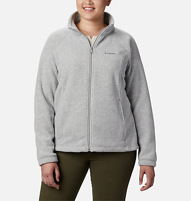 Women's Benton Springs™ Full Zip - Plus Size Benton Springs™ Full Zip | 619 | 1X, Cirrus Grey Heather, front