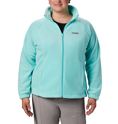 Women's Benton Springs™ Full Zip - Plus Size Benton Springs™ Full Zip | 619 | 1X, Aquarium, front