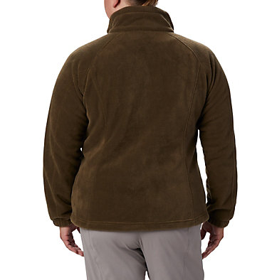 Women's Benton Springs™ Full Zip - Plus Size Benton Springs™ Full Zip | 619 | 1X, Olive Green, back
