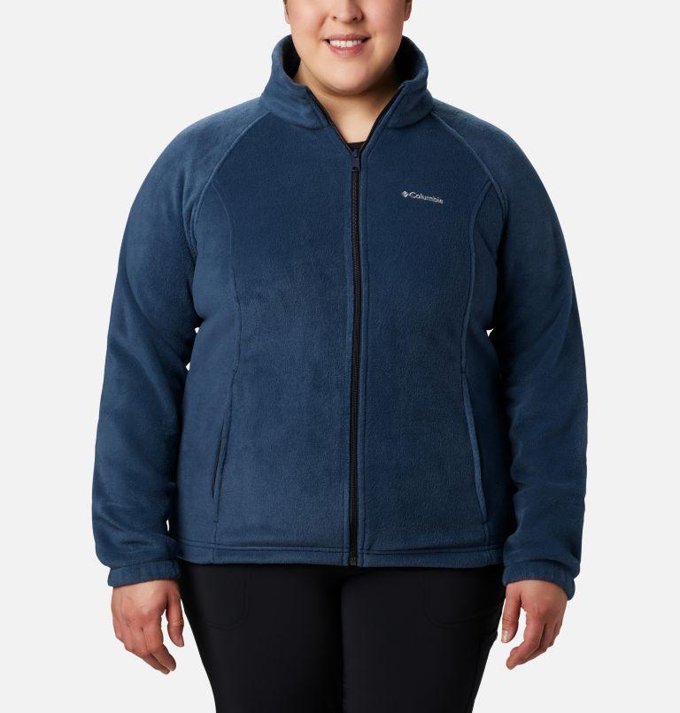 Benton Springs™ Full Zip | 425 | 1X Women's Benton Springs™ Full Zip - Plus Size, Columbia Navy, front