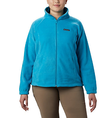Women's Benton Springs™ Full Zip - Plus Size Benton Springs™ Full Zip | 619 | 1X, Clear Water, front