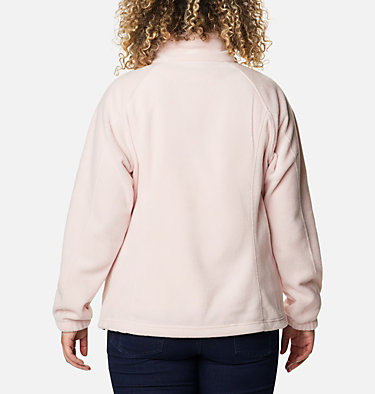 Women's Benton Springs™ Full Zip - Plus Size Benton Springs™ Full Zip | 619 | 1X, Mineral Pink, back
