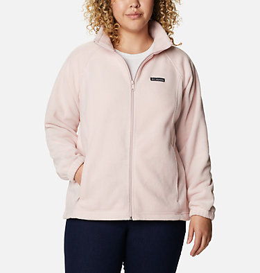 Women's Benton Springs™ Full Zip - Plus Size Benton Springs™ Full Zip | 619 | 1X, Mineral Pink, front