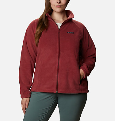 Women's Benton Springs™ Full Zip - Plus Size Benton Springs™ Full Zip | 619 | 1X, Marsala Red, front
