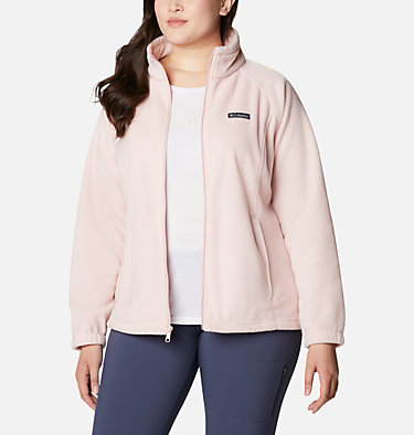 Women's Benton Springs™ Full Zip - Plus Size Benton Springs™ Full Zip | 619 | 1X, Dusty Pink, front