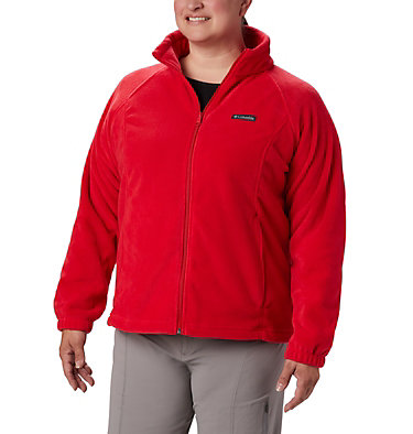 Veste à fermeture éclair complète Benton Springs™ pour femme – Grandes tailles Benton Springs™ Full Zip | 671 | 1X, Red Lily, front