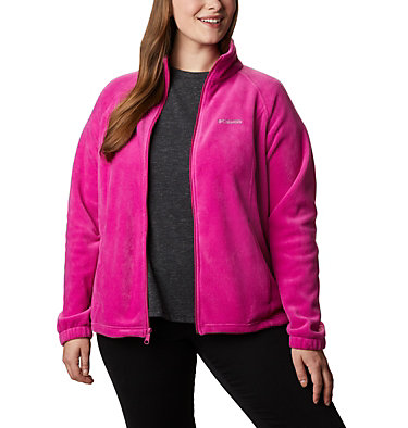 Women's Benton Springs™ Full Zip - Plus Size Benton Springs™ Full Zip | 619 | 1X, Fuchsia, front