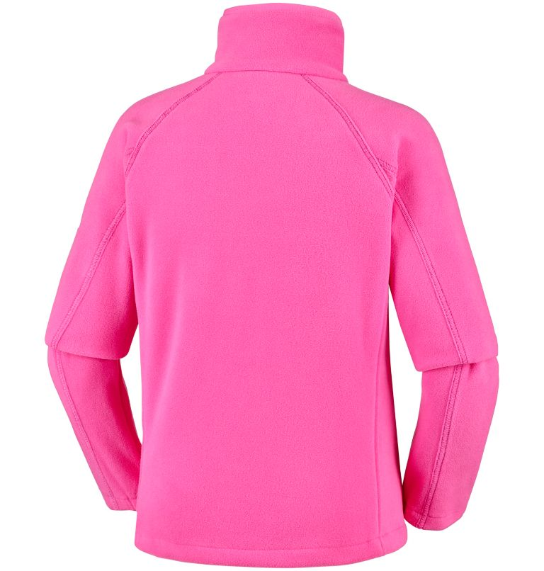 Fast Trek™ II Full Zip | 474 | L Youth Fast Trek™ II Full Zip Fleece Jacket, Wild Geranium, Haute Pink, back