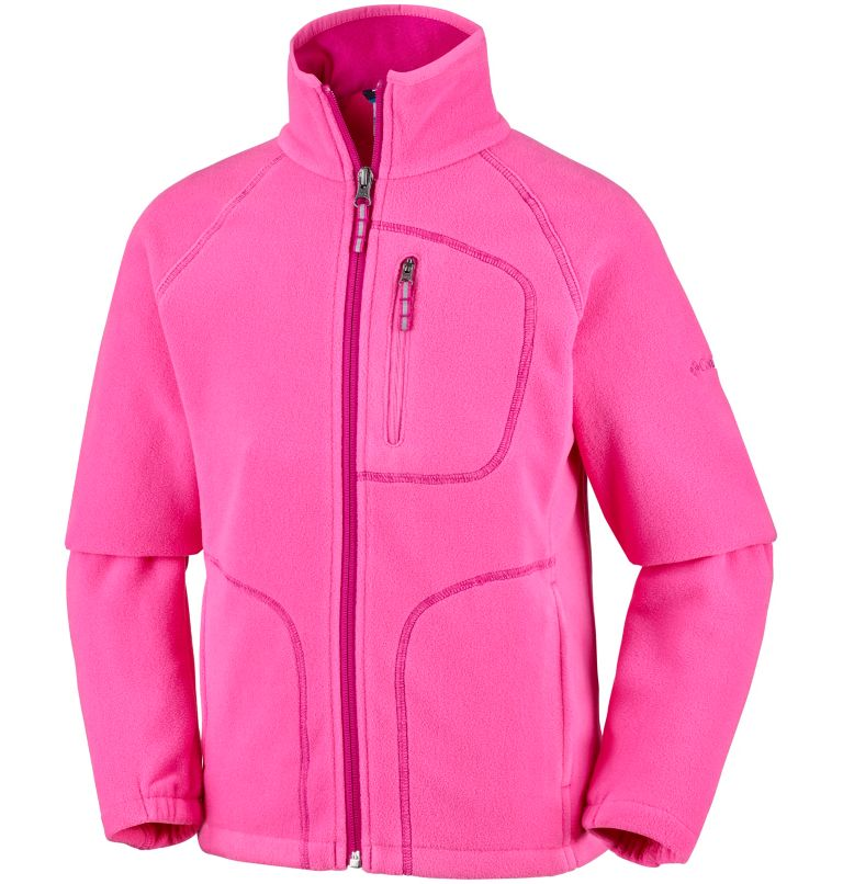 Fast Trek™ II Full Zip | 474 | L Youth Fast Trek™ II Full Zip Fleece Jacket, Wild Geranium, Haute Pink, front