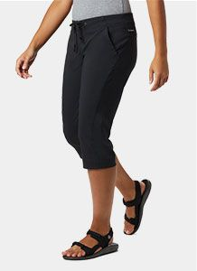 A pair of capri-length hiking pants.