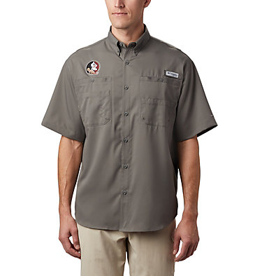 Men's Collegiate PFG Tamiami™ Short Sleeve Shirt - Florida State CLG Tamiami™ Short Sleeve Shirt | 035 | L, FSU- Charcoal, front