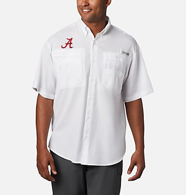 Men's Collegiate PFG Tamiami™ Short Sleeve Shirt - Alabama CLG Tamiami™ Short Sleeve Shirt | 110 | L, ALA - White, front