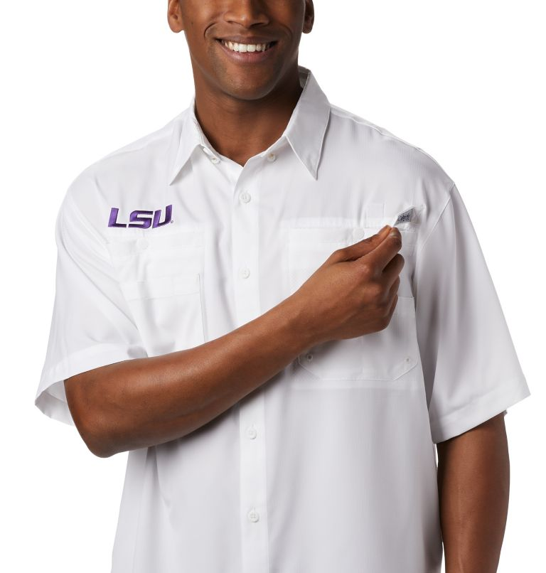 Men's Collegiate PFG Tamiami™ Short Sleeve Shirt - LSU Men's Collegiate PFG Tamiami™ Short Sleeve Shirt - LSU, a1