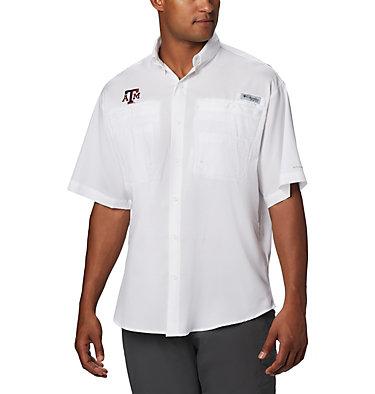 Men's Collegiate PFG Tamiami™ Short Sleeve Shirt - Texas A & M CLG Tamiami™ Short Sleeve Shirt | 133 | XXL, TAM - White, front