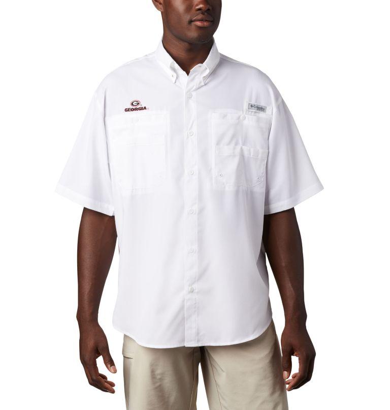Men's Collegiate PFG Tamiami™ Short Sleeve Shirt - Georgia Men's Collegiate PFG Tamiami™ Short Sleeve Shirt - Georgia, front