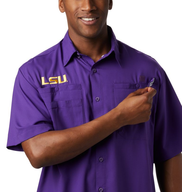 Men's Collegiate PFG Tamiami™ Short Sleeve Shirt - LSU Men's Collegiate PFG Tamiami™ Short Sleeve Shirt - LSU, a2